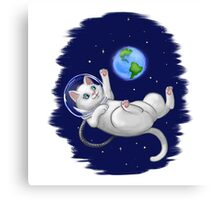 Are you there world? Its me, Kitteh Canvas Print