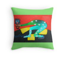 crazy wizard Throw Pillow