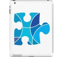 Blue puzzle piece iPad Case/Skin
