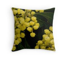 The Green and the Gold Throw Pillow