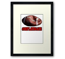 DEFLATEGATE - Official Game Ball of the New England Patriots Framed Print