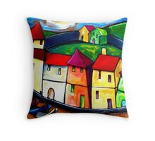 THE  OLD  CITY  OF  GOA. Throw Pillow