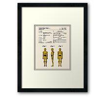 C3P0 Patent - Colour Framed Print