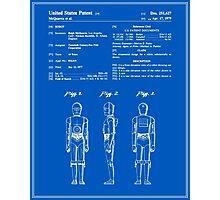 C3P0 Patent - Blueprint Photographic Print