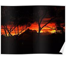 Fiery Mt Warning Sunset Poster