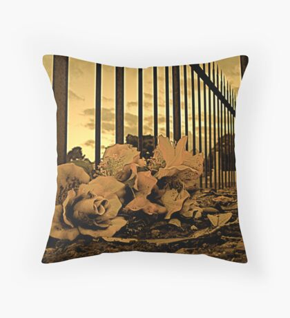 Flowers at Burra Cemetery Throw Pillow