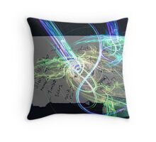 poetry in motion @ 60k's an hour Throw Pillow