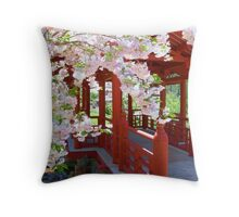 Japanese Cherry Throw Pillow