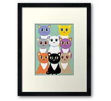 Only Eight Cats Framed Print