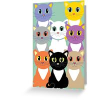 Only Eight Cats Greeting Card