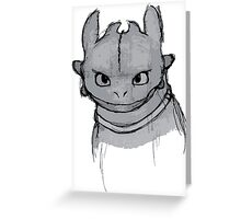 Toothless (larger) Greeting Card