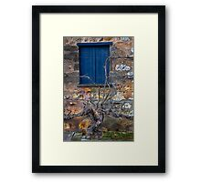Winery Window Framed Print
