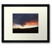 The Funnel Clouds Framed Print
