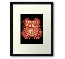 Lecter Academy of Culinary Arts (2) Framed Print