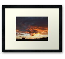 Funnel Clouds at Dawn Framed Print