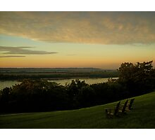 Down the Mississippi River from an easy chair Photographic Print