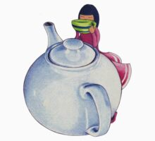 Girl with Tea T-shirt by Mariana Musa