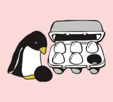 LINUX TUX PENGUIN EGG BOX BLACK EGG One Piece - Short Sleeve