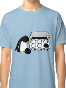 LINUX TUX PENGUIN EGG BOX BLACK EGG Classic T-Shirt