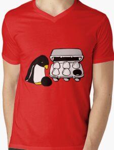 LINUX TUX PENGUIN EGG BOX BLACK EGG Mens V-Neck T-Shirt