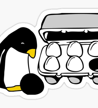 LINUX TUX PENGUIN EGG BOX BLACK EGG Sticker