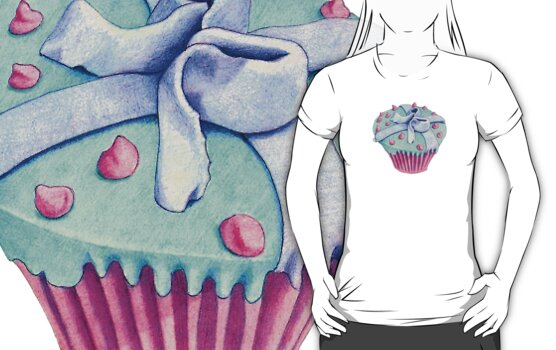 Crooked Cupcake T-shirt by Mariana Musa