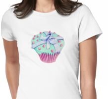 Crooked Cupcake T-shirt Womens Fitted T-Shirt