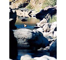 BUCK IN THE WATER Photographic Print