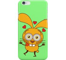 Yellow bunny feeling madly in love iPhone Case/Skin