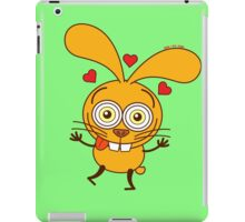 Yellow bunny feeling madly in love iPad Case/Skin