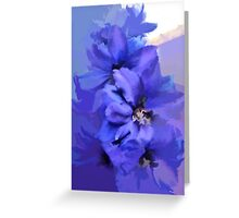 abstract of Delphinium abstracted to death Greeting Card