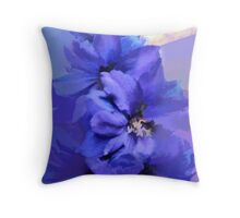 abstract of Delphinium abstracted to death Throw Pillow