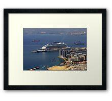 Gibraltar Harbour Framed Print