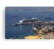Gibraltar Harbour Canvas Print