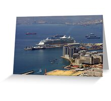 Gibraltar Harbour Greeting Card
