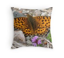 Pearl-Bordered Fritillary Throw Pillow