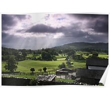 Morning Showers, The Lake District Poster