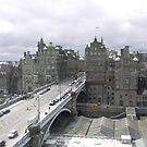 princess street & Weaverly station Edinburgh by mikequigley