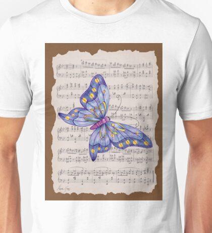 Dancing Butterfly_1_brown Unisex T-Shirt