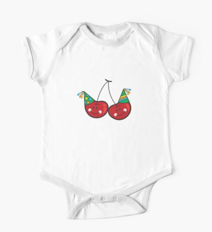 Cheeky Party Cherries! One Piece - Short Sleeve
