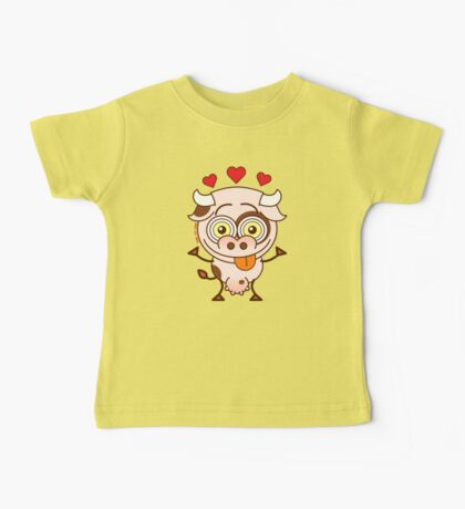 Cute cow falling madly in love Baby Tee