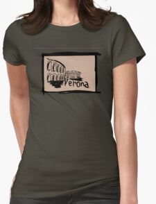 Verona sketch Womens Fitted T-Shirt