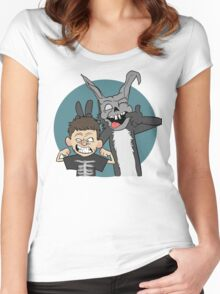 Donnie And Frank Blue Women's Fitted Scoop T-Shirt