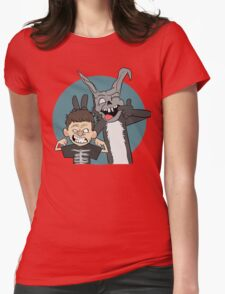 Donnie And Frank Blue Womens Fitted T-Shirt