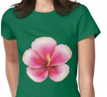 Pink hibiscus  Womens Fitted T-Shirt