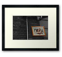 Meth picture frame Melbourne Framed Print