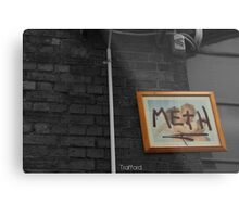 Meth picture frame Melbourne Metal Print
