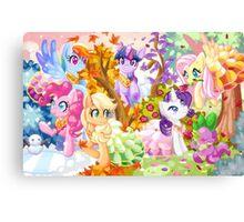 Mucha Ponies Canvas Print