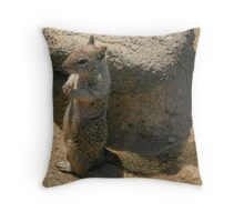Squirrel playing he is a meercat.... Throw Pillow