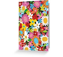 Spring Flower Power Greeting Card